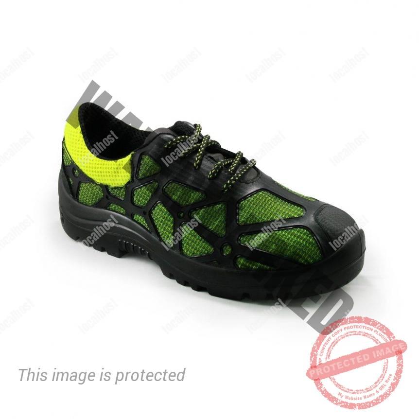bota de seguridad pentagono neck verde lateral